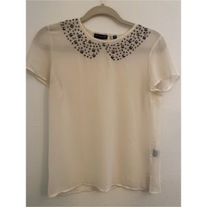 White Sheer Top Size Small